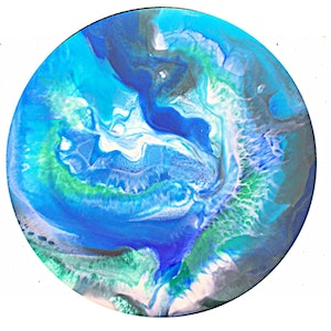 (CreativeWork) Whirlpool  by Trudy Lowndes. resin. Shop online at Bluethumb.