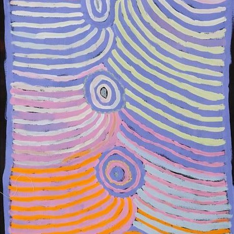 (CreativeWork) Ngurra  by Nancy  Tjungupi Carnegie. Acrylic Paint. Shop online at Bluethumb.
