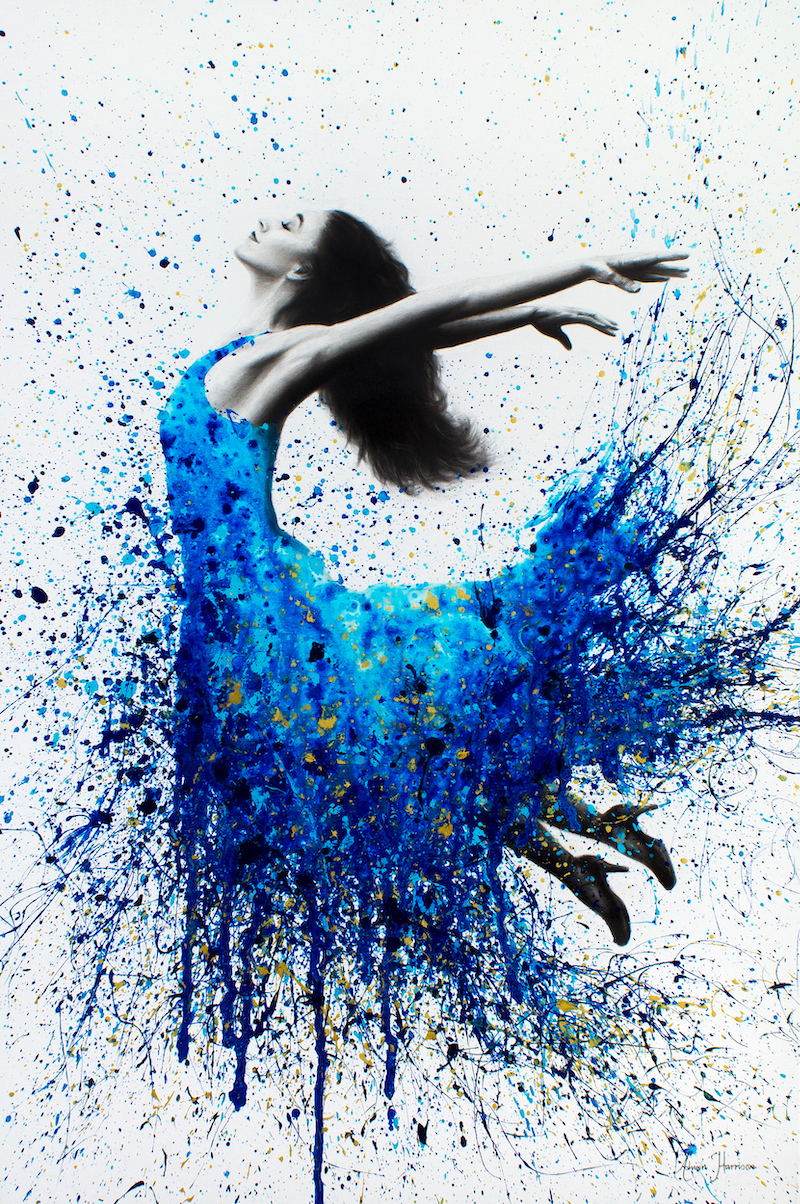 (CreativeWork) Ballroom Elation by Ashvin Harrison. arcylic-painting. Shop online at Bluethumb.