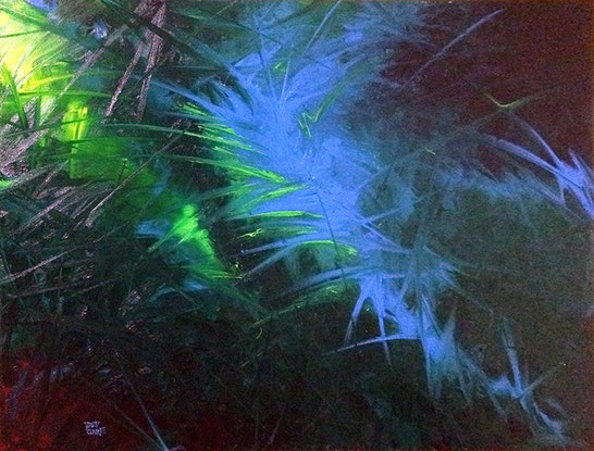 """(CreativeWork) """"Blue Flash"""" by David Clare. Oil Paint. Shop online at Bluethumb."""