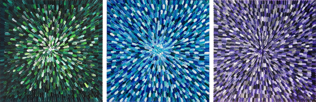 """(CreativeWork) """"GEMS"""". by Alorna & Co. Acrylic Paint. Shop online at Bluethumb."""
