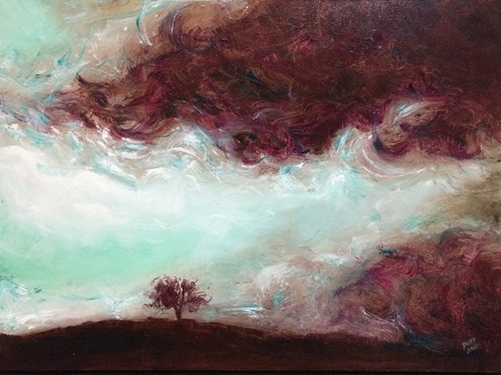 "(CreativeWork) ""Storm"" by David Clare. Oil Paint. Shop online at Bluethumb."