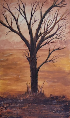 (CreativeWork) Rusty by Stephanie Siomos. Acrylic Paint. Shop online at Bluethumb.