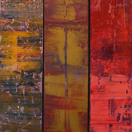 (CreativeWork) Triptych #2 by Imron .. Acrylic Paint. Shop online at Bluethumb.