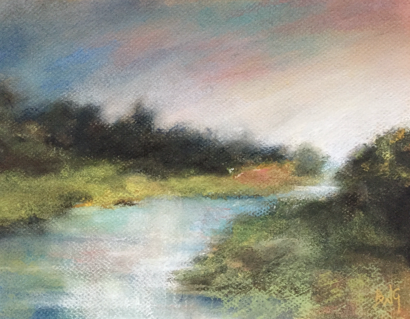 (CreativeWork) River Bend by Bronwyn Woodley Graham. drawing. Shop online at Bluethumb.
