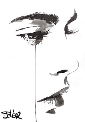 (CreativeWork) THE FEELING by loui jover. Drawings. Shop online at Bluethumb.