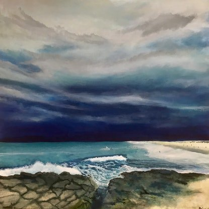 (CreativeWork) Stormy day by Priya Cox. Acrylic Paint. Shop online at Bluethumb.