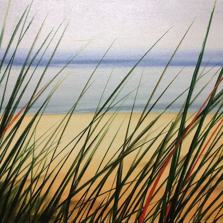 "(CreativeWork) ""Beach Grass 3"" by David Clare. Oil Paint. Shop online at Bluethumb."