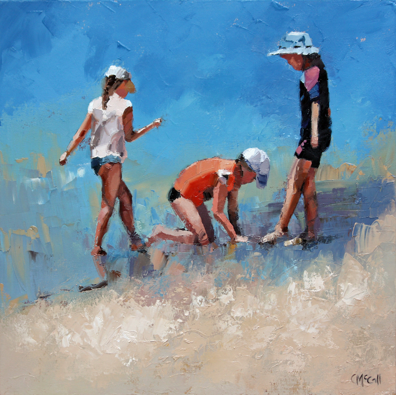 (CreativeWork) Summer Days VI by Claire McCall. Oil Paint. Shop online at Bluethumb.