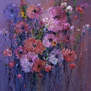 (CreativeWork) Pink Fizz by Helen Miles. Acrylic Paint. Shop online at Bluethumb.