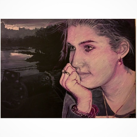 (CreativeWork) Chelsea by Tom Ansell. Oil Paint. Shop online at Bluethumb.
