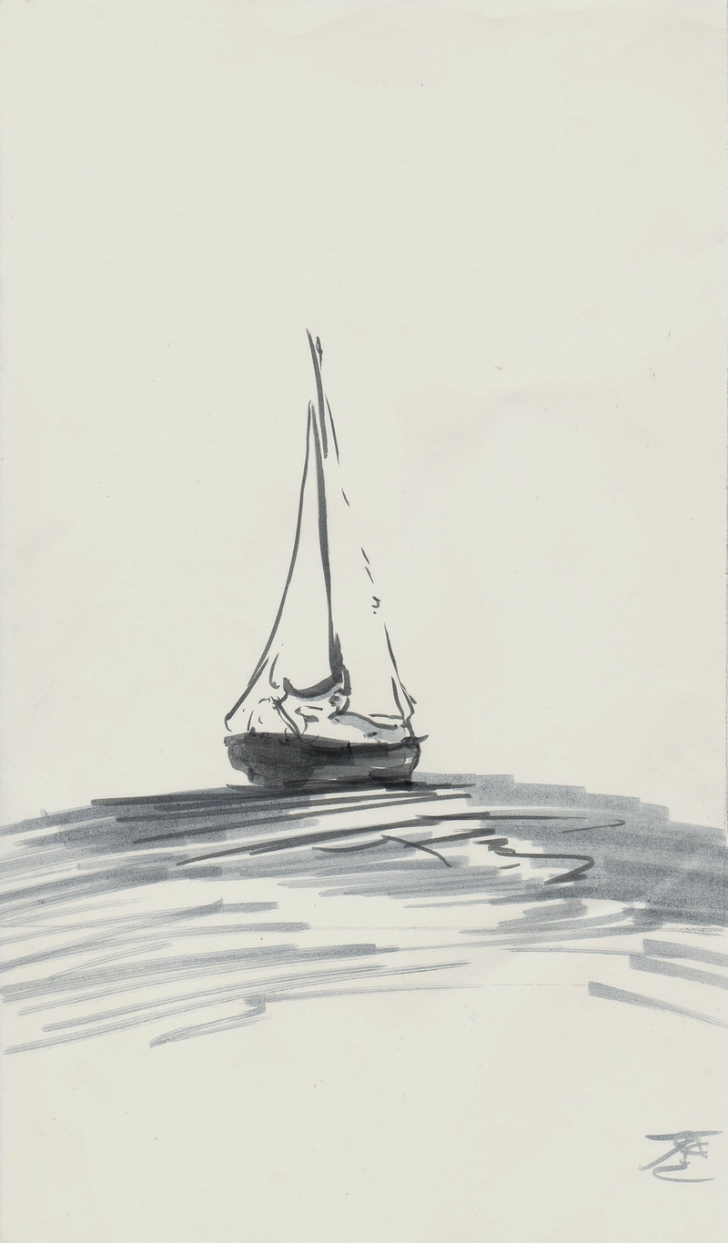 (CreativeWork) Cruising Yacht by Tom Ansell. Drawings. Shop online at Bluethumb.