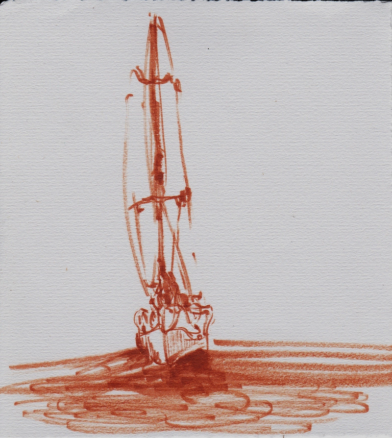 (CreativeWork) Fire Yacht by Tom Ansell. Drawings. Shop online at Bluethumb.