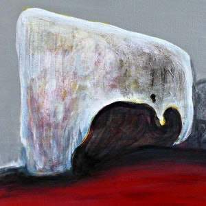 (CreativeWork) Remarkable Rocks, Kangaroo Island by Rachel Le Goff. arcylic-painting. Shop online at Bluethumb.