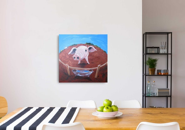 """(CreativeWork) """"Eat More Veggies"""" by Lily Day. Acrylic Paint. Shop online at Bluethumb."""