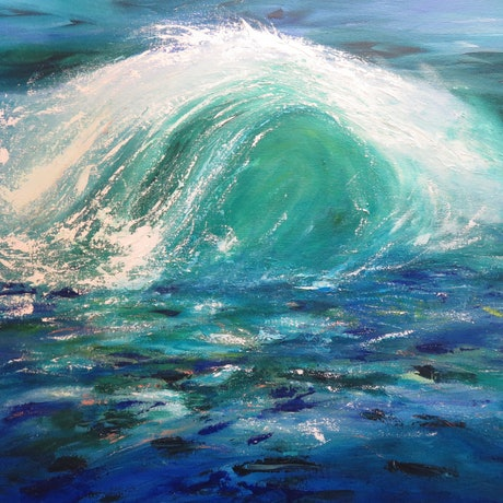 (CreativeWork) Rough Sea by Stephanie Boyle. Acrylic Paint. Shop online at Bluethumb.