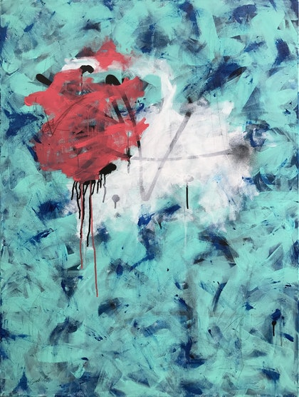 (CreativeWork) Nothing is certain except for this moment by Sioux Tempestt. mixed-media. Shop online at Bluethumb.