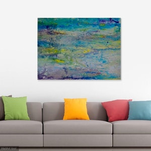 (CreativeWork) The Ocean bed by Sue Shakeshaft. arcylic-painting. Shop online at Bluethumb.