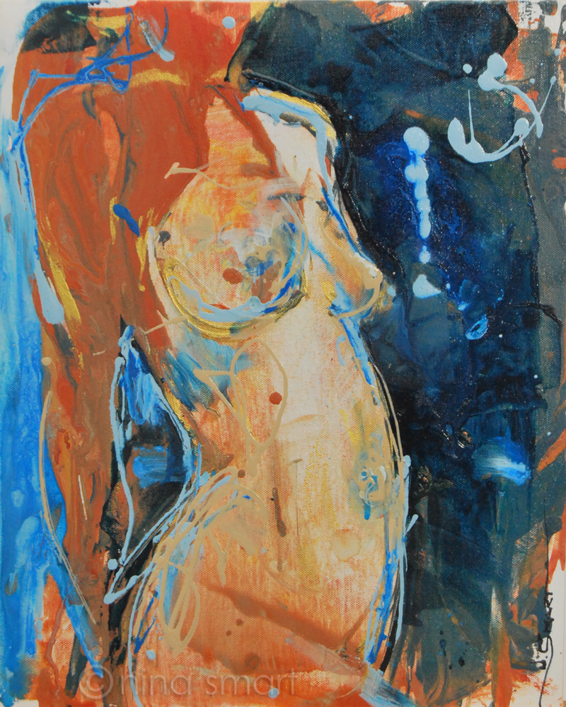 (CreativeWork) Nude Belly by Nina Smart. arcylic-painting. Shop online at Bluethumb.