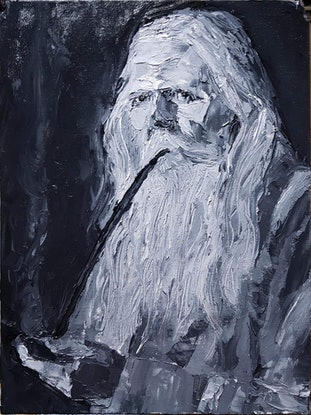 (CreativeWork) Wisdom of Hindsight by Rohan Skellams. Oil Paint. Shop online at Bluethumb.