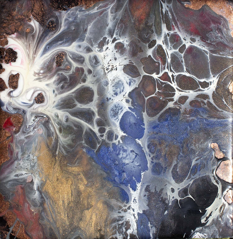 (CreativeWork) Webs of Life 4 by Gayle Reichelt. resin. Shop online at Bluethumb.