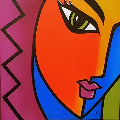 (CreativeWork) Expressions 1 by Shoma Anand. arcylic-painting. Shop online at Bluethumb.