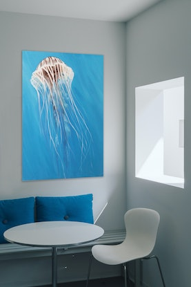 (CreativeWork) In The Blue by Naomi Veitch. Acrylic Paint. Shop online at Bluethumb.