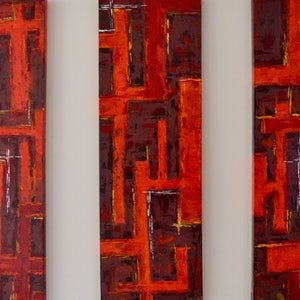 (CreativeWork) Red dawn by Francisco Burgos. arcylic-painting. Shop online at Bluethumb.