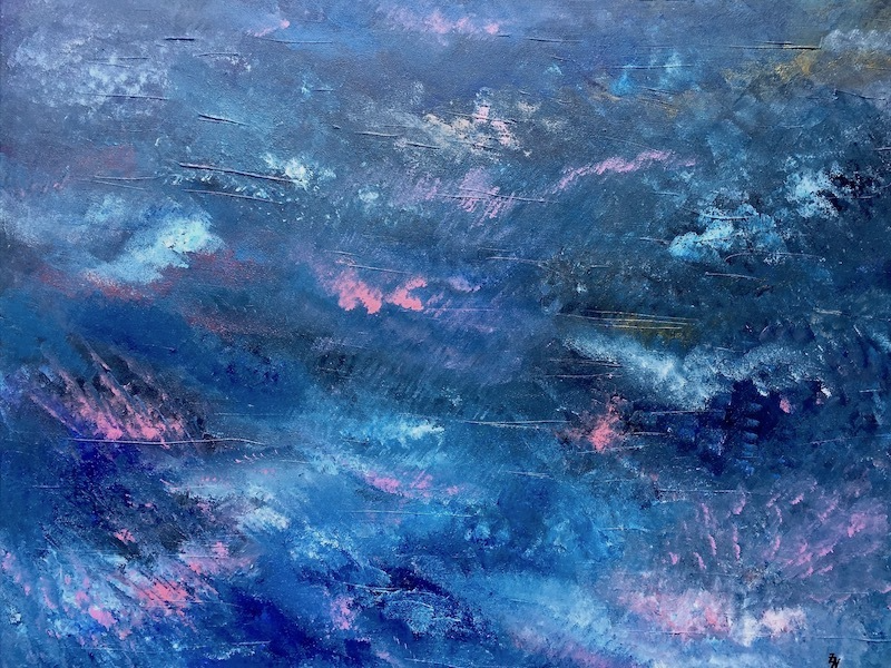 (CreativeWork) Et in universum viribus op.1 /The forces of the universe op.1 by Zack Nodelman. arcylic-painting. Shop online at Bluethumb.