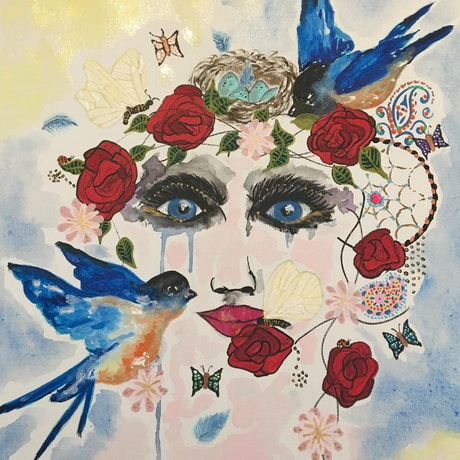 (CreativeWork) BOHEMIAN BUTTERFLY KISSES by April Lockwood. Mixed Media. Shop online at Bluethumb.