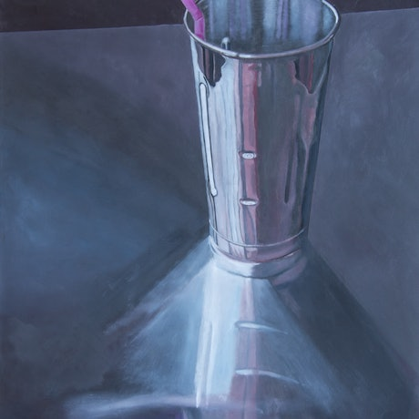 (CreativeWork) Milkshake Cup by Rob Kennedy. Oil Paint. Shop online at Bluethumb.