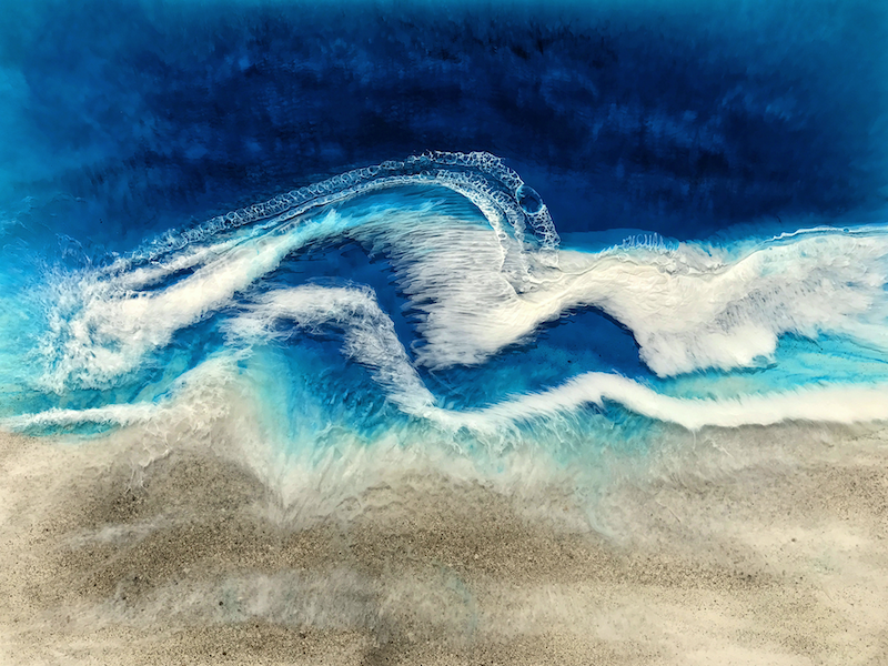 (CreativeWork) Daios Cove by Martine Vanderspuy. resin. Shop online at Bluethumb.
