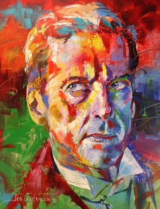 (CreativeWork) Dr Who 12, Peter Capaldi by Jos Coufreur. Acrylic Paint. Shop online at Bluethumb.