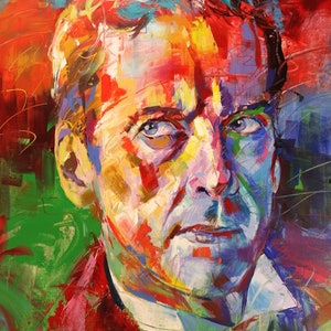 (CreativeWork) Dr Who 12, Peter Capaldi by Jos Coufreur. acrylic-painting. Shop online at Bluethumb.