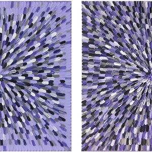 "(CreativeWork) ""AMETHYSTS"".  (Diptych) by Alorna & Co. arcylic-painting. Shop online at Bluethumb."