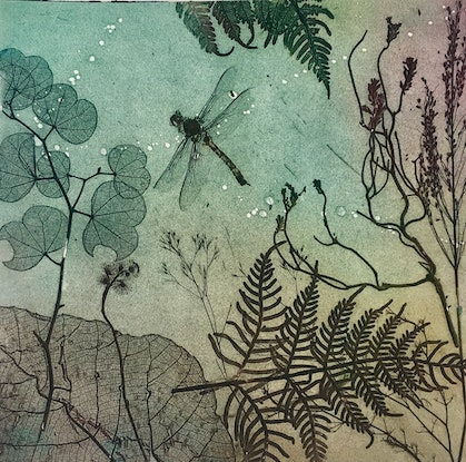 (CreativeWork) Dragonfly Essence by Jet James. Mixed Media. Shop online at Bluethumb.