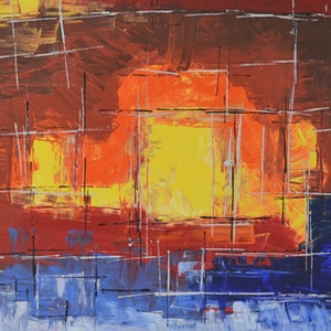 (CreativeWork) Hot and cold plasma by Francisco Burgos. arcylic-painting. Shop online at Bluethumb.