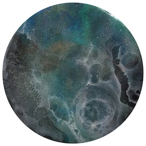 """(CreativeWork) """"Vulnerable waters""""  one of a kind resin art by Trudy Lowndes. resin. Shop online at Bluethumb."""