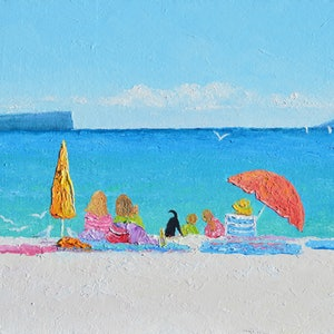 (CreativeWork) Hyams Beach, Jervis Bay by Jan Matson. oil-painting. Shop online at Bluethumb.