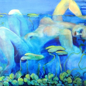 (CreativeWork) New Life Emerging  by Glenise Clelland. oil-painting. Shop online at Bluethumb.
