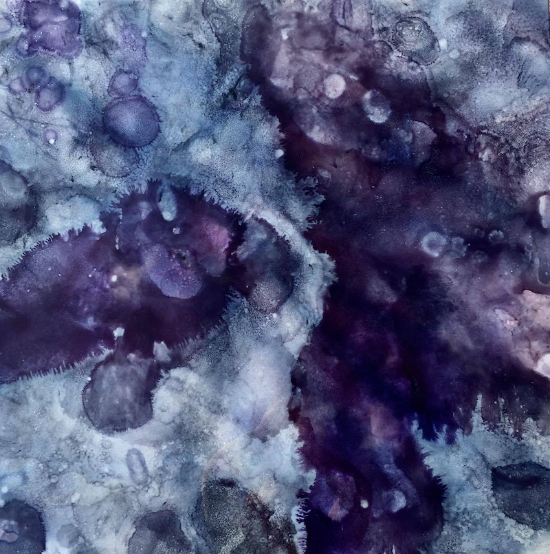 (CreativeWork) Amethyst Rising by Jenny Petracca. resin. Shop online at Bluethumb.