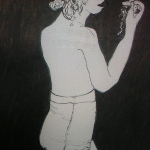 (CreativeWork) The other side by Polly Courtin. drawing. Shop online at Bluethumb.
