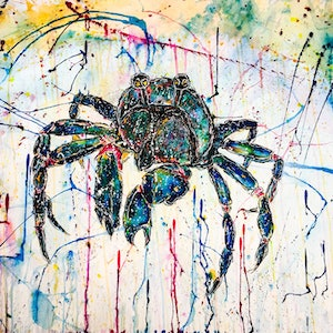 (CreativeWork) Soldier Crab by Leith Kennedy. mixed-media. Shop online at Bluethumb.