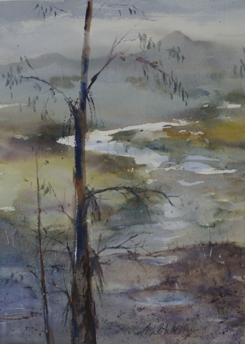 (CreativeWork) THE BIG WET by Anki Wickison. Watercolour Paint. Shop online at Bluethumb.