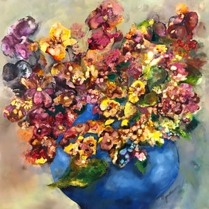 (CreativeWork) Infusion of Colours by Gosia Orzechowska. mixed-media. Shop online at Bluethumb.