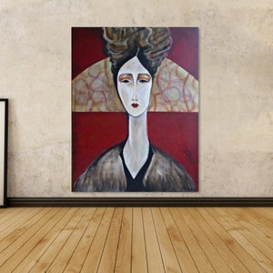 (CreativeWork) Concubine by Rachel Le Goff. arcylic-painting. Shop online at Bluethumb.