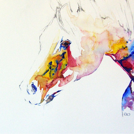 (CreativeWork) Watching by Christine Lawrence. Watercolour Paint. Shop online at Bluethumb.