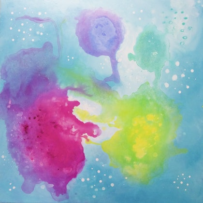(CreativeWork) Prana 02 by Emelie Coffey. arcylic-painting. Shop online at Bluethumb.