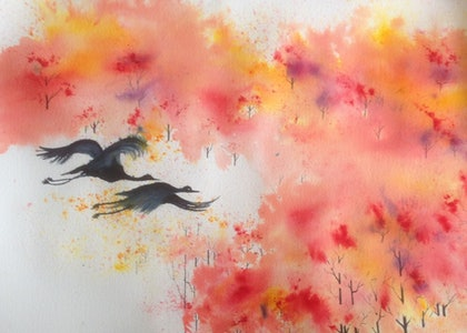 (CreativeWork) Heading Home by Gaye C Boltong. watercolour. Shop online at Bluethumb.