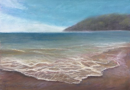(CreativeWork) The tide creeps in by Angela Leone. other-media. Shop online at Bluethumb.